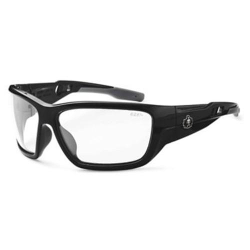 Skullerz BALDR Safety Glasses, Clear Lens, Black (57000)