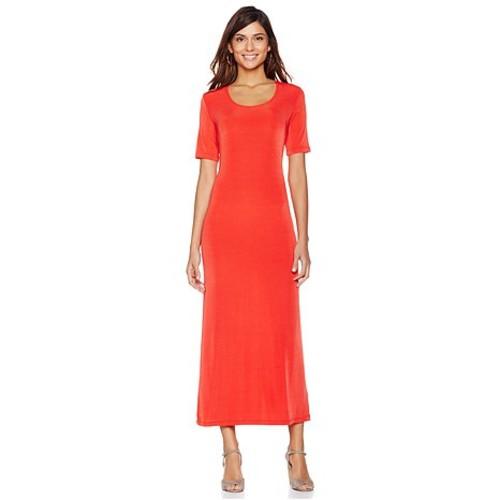 Original Slinky Brand Short-Sleeve Maxi Dress