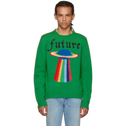 GUCCI Green Intarsia 'Future' Sweater