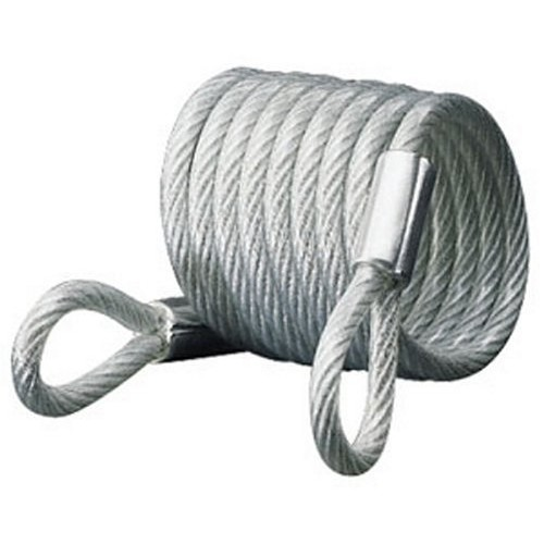 Master Lock 65D Self-Coiling Cable with Looped Ends, 6-Foot, 1/4-inch Diameter [6' x 1/4