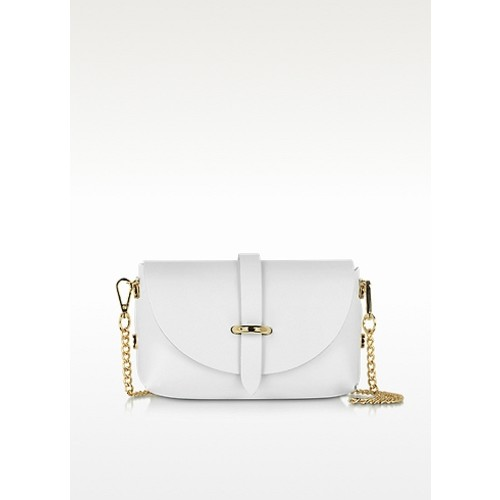 Caviar Small White Leather Shoulder Bag