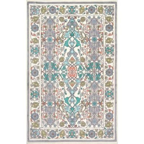 nuLOOM Floral Janise Multi 5 ft. x 8 ft. Area Rug