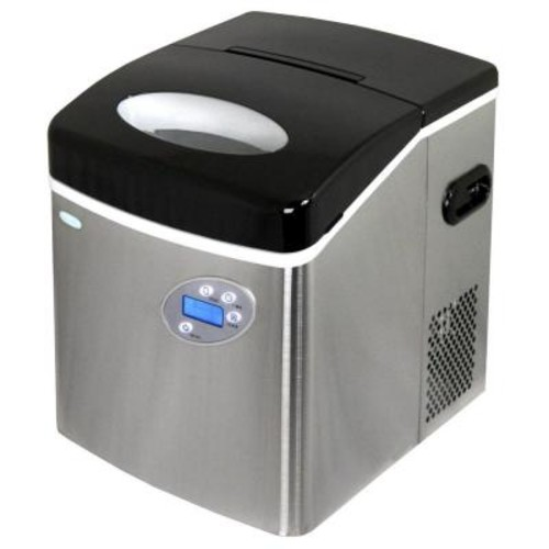 Air 50 lb. Freestanding Ice Maker in Stainless Steel