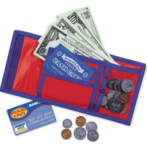 Learning Resources Pretend & Play Cash N Carry Wallet