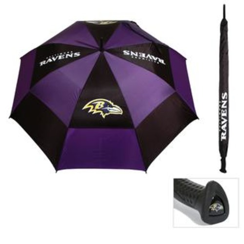 Team Golf Baltimore Ravens 62-inch Double Canopy Golf Umbrella