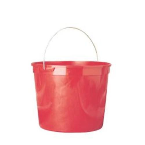 Leaktite 5-Qt. Red Polysteel Rim Plastic Pail (Pack of 3)