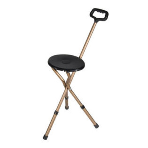 Drive Medical Bronze Adjustable Height Folding Lightweight Cane Seat Model rtl10365-adj