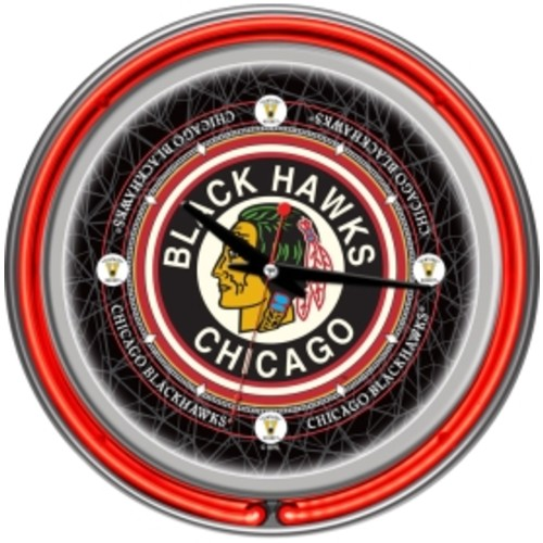 Trademark Games Chicago Blackhawks 14'' Neon Clock