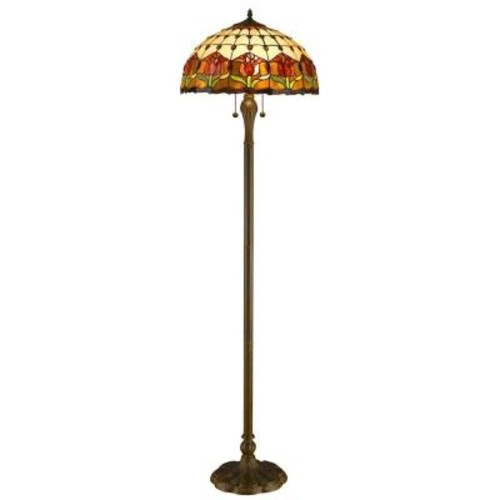 Amora Lighting 62 in. Tiffany Style Tulips Floor Lamp