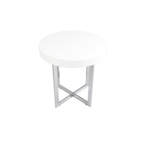 Euro Style Coffee, Console, Sofa & End Tables Oliver White Side Table