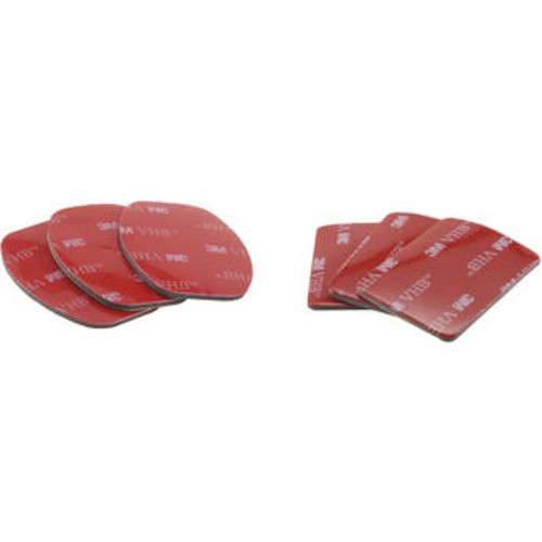 Three Flat & Three Curved 3M Adhesive Pads