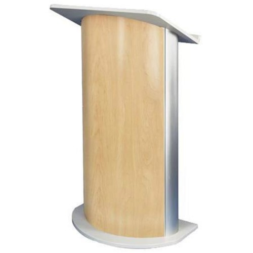 AmpliVox SW3130 Wireless Curved Hardrock Maple Lectern with Sound System