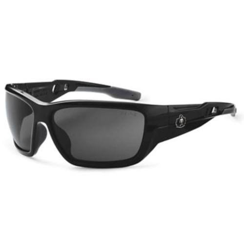 Skullerz BALDR Safety Glasses, Smoke Lens, Black (57030)