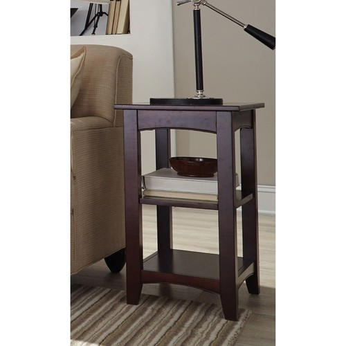 Alaterre Coffee, Console, Sofa & End Tables Fair Haven 2-shelf Wood End Table [option : Cherry - Cherry Finish]