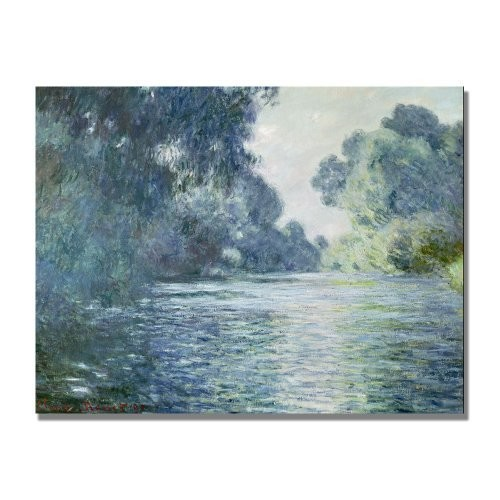 Trademark Fine Art Branch Of The Seine Near Giverny by Claude Monet Canvas Wall Art, 18x24-Inch
