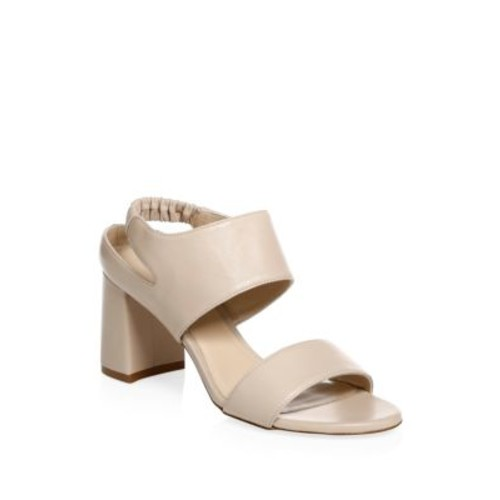 Erica Elastic Strap Block-Heel Sandal