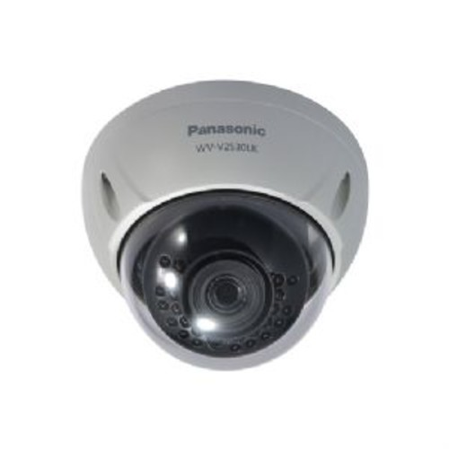 Panasonic Full HD Weatherproof Dome Network Camera - 2MP, 1/2.8 CMOS Image Sensor, 1080p@60fps, f=3.6mm, IR LED, SD Memory Card Slot, Vandal Resistant, IP66 Rated Water and Dust Resistant - WV-V2530LK