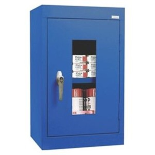 Clear View 1 Door Storage Cabinet Color: Blue