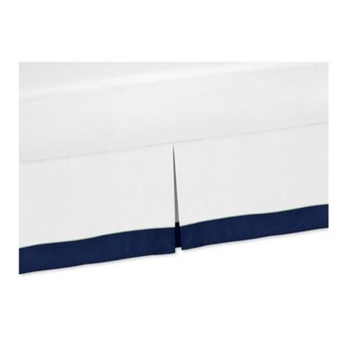 Navy & White Bed Skirt - Sweet Jojo Designs