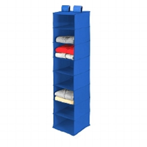 Honey Can Do 8 Shelf Hanging Organizer, Polyester Blue