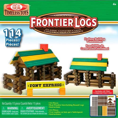 Ideal Frontier Logs 114 Piece Classic Wood Construction Set [Standard Packaging]