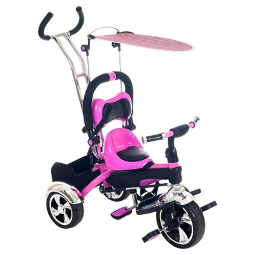 Lil' Rider 2-in-1 Stroller Tricycle, Pink
