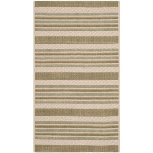 Safavieh Courtyard Beige/Green 3 ft. x 5 ft. Indoor/Outdoor Area Rug