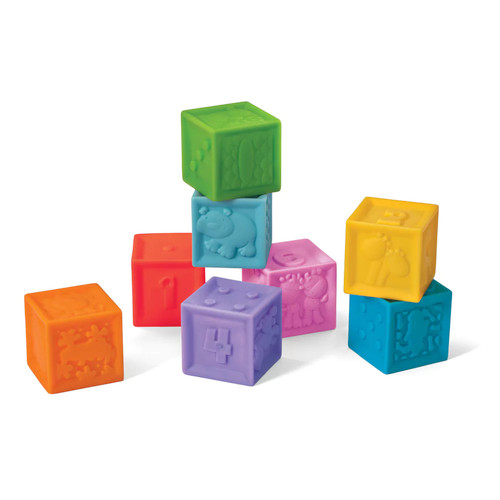 Infantino Squeeze & Stack Block Set, 8 pc