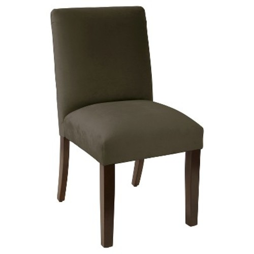 Tufted Dining Chair - Velvet Pewter - Skyline Furniture