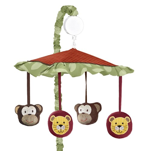 Sweet Jojo Designs Jungle Time Collection Musical Mobile