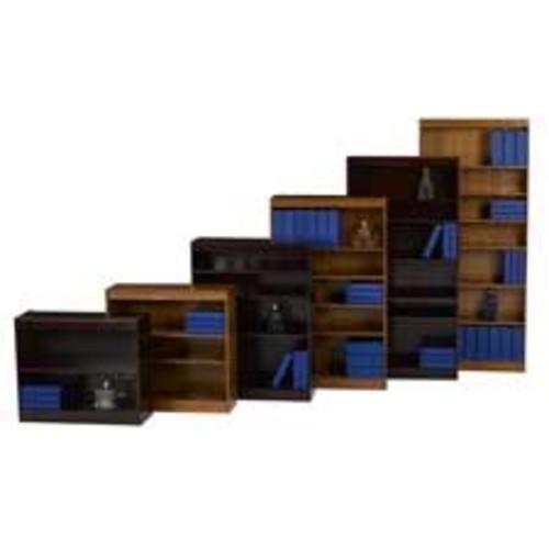 Cherry Lorell Six Shelf Panel Bookcase