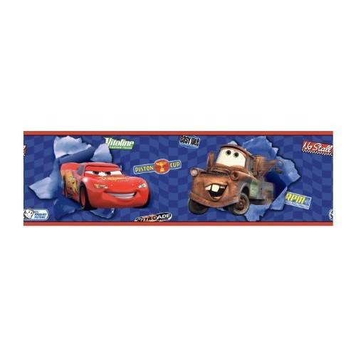 York Wallcoverings Disney Kids DK6116BD Cars Lightning McQueen & Mater Border, Blue [Blue .78, Border]