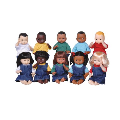 Creative Minds Dolls Multi-Ethnic 10-Doll School Set
