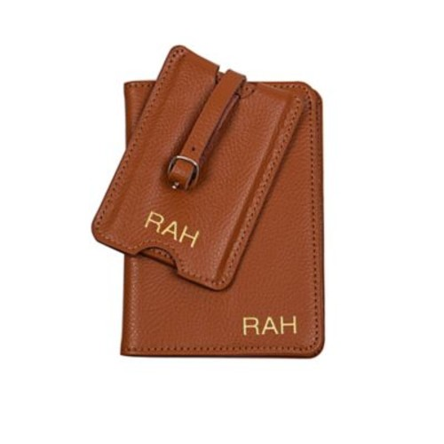 Cathy's Concepts Leather Passport Holder & Luggage Tag