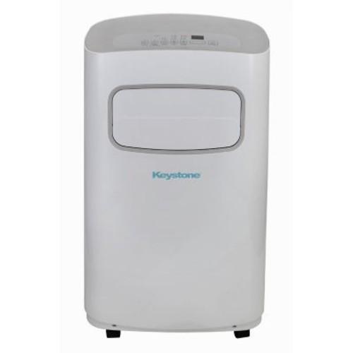 Keystone 12,000 BTU 115V Portable Air Conditioner with Remote Control in White/Gray
