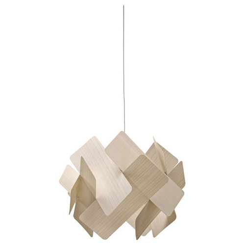 Escape 1 Light Suspension [Lamp Base : E26 Standard Medium Base; Shade color : Ivory White]