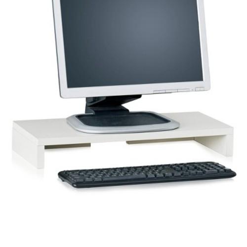 Way Basics Eco Computer Monitor Stand - Display Riser - White
