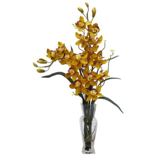 Nearly Natural 1183-YL Cymbidium Arrangements, Yellow