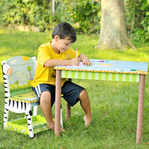 Sunny Safari Kids 3 Piece Table and Chair Set