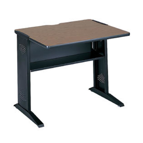 Safco Home Office Reversible Top Computer Desk With Black Steel Base, 36 x 28