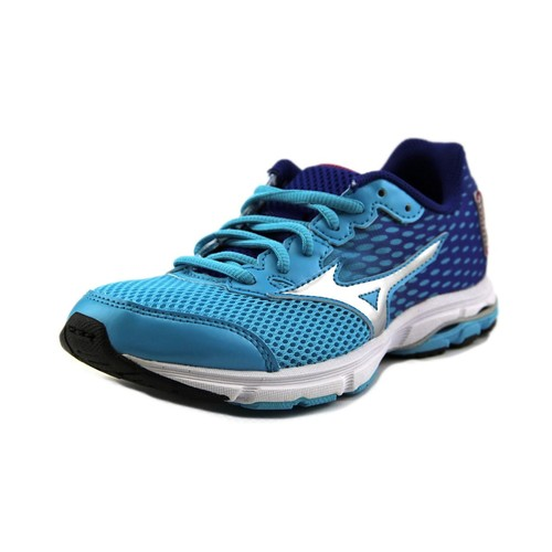 Mizuno Wave Rider 18 Jnr. Round Toe Synthetic Running Shoe