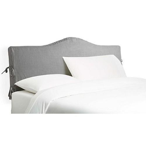 Eloise Slipcover Headboard, Gray Linen