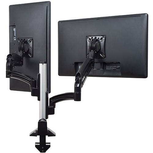 Kontour K1C Dual Monitor Dynamic Column Mount, Reduced Height (Black)