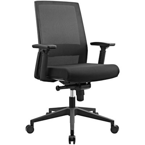 Modway Shift Fabric Office Chair in Black (889654067641)
