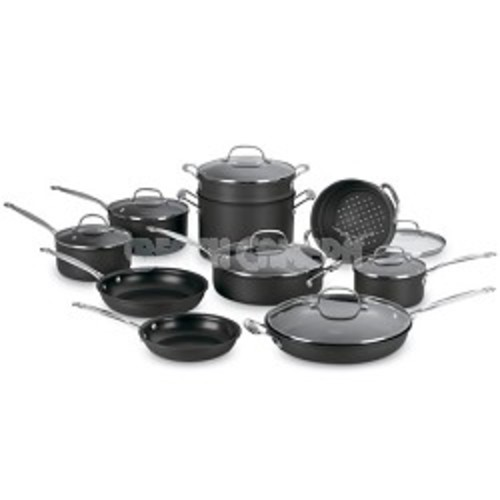 Cuisinart 66-17 - Chef's Classic Nonstick Hard-Anodized 17-Piece Cookware Set