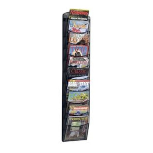 Safco Products Safco 5579BL Black 10-Pocket Onyx Magazine Rack