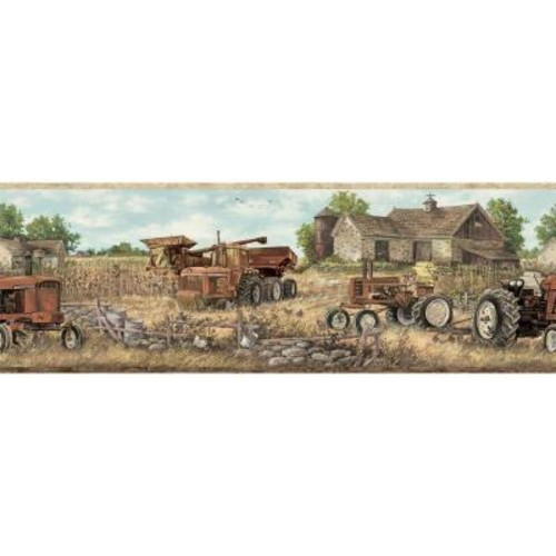 Chesapeake Oakley Coffee Countryside Wallpaper Border Sample