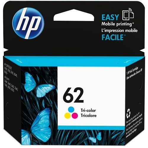 HP Inc. 62 Tri-color Original Ink Cartridge (C2P06AN#140)