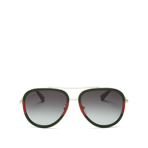 GUCCI Aviator Gradient Sunglasses, 57Mm
