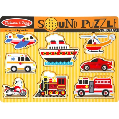 MELISSA & DOUG 725 VEHICLES SOUND PUZZLE PUZZLES